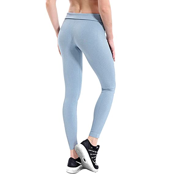 3edabbf6d7aa6 Charm temptation Women Yoga Pants High Elastic Fitness Sport Leggings  Tights Slim Running Sports Pants,Sliver,M,China: Amazon.ca: Clothing &  Accessories