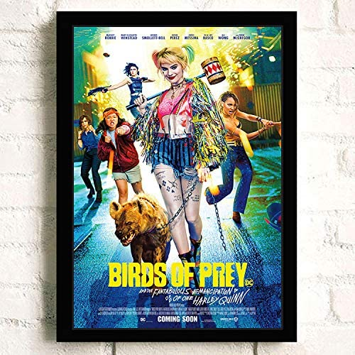 Amazon Com Harley Quinn Birds Of Prey Movie Poster Prints Wall Art Decor Unframed Multiple Patterns Available 16x12 32x22 Inches Posters Prints