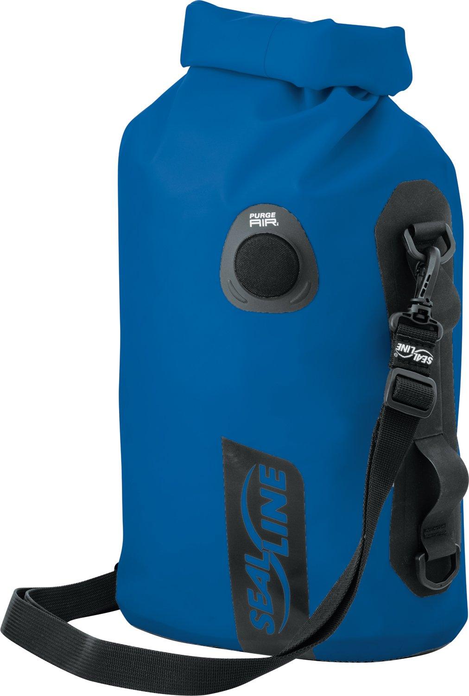 SealLine Discovery Deck Waterproof Dry Bag with PurgeAir, Blue, 10-Liter