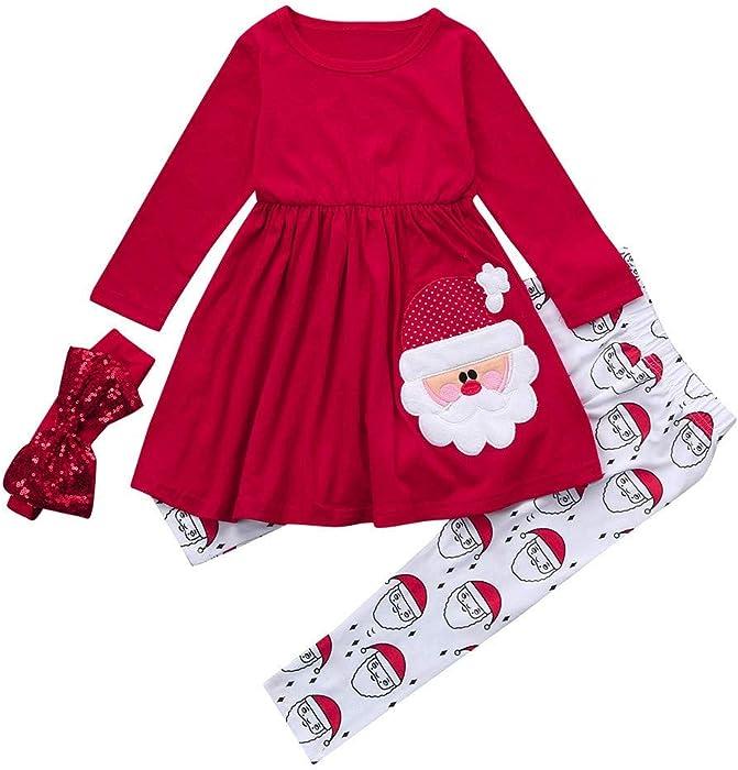 Ansenesna Weihnachten Kost/üm Baby M/ädchen Prinzessin Cartoon Kleid Elegant Weihnachts Kleidung