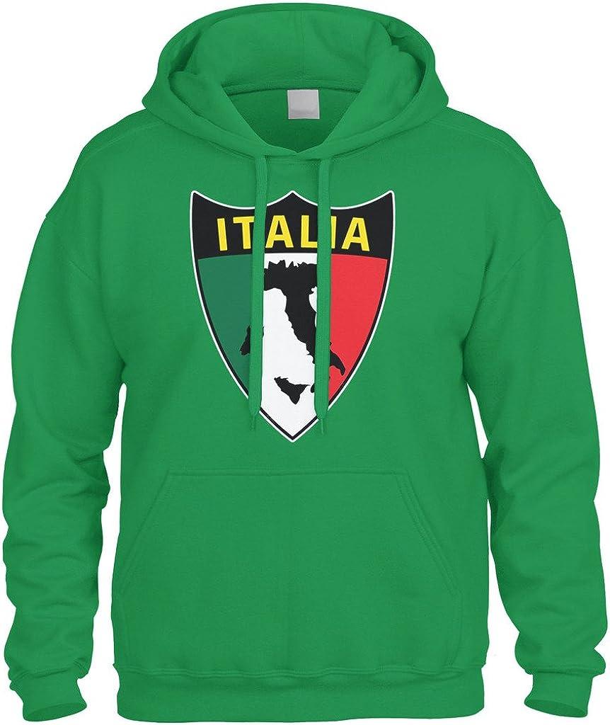 Italy Country Flag Italia Azzurri Pride Football Soccer 2-tone Hoodie Pullover