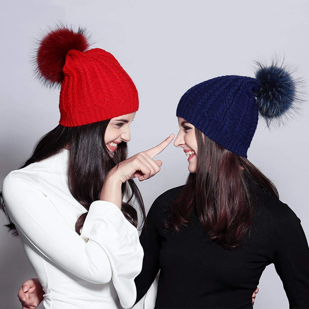 AMhomely K/ünstlicher Haarball Nachahmung Fuchs Waschb/är Haarkugel 14PC DIY Faux Fur Fluffy Pompom Ball for Hats Shoes Scarves Keychains Bag Charms