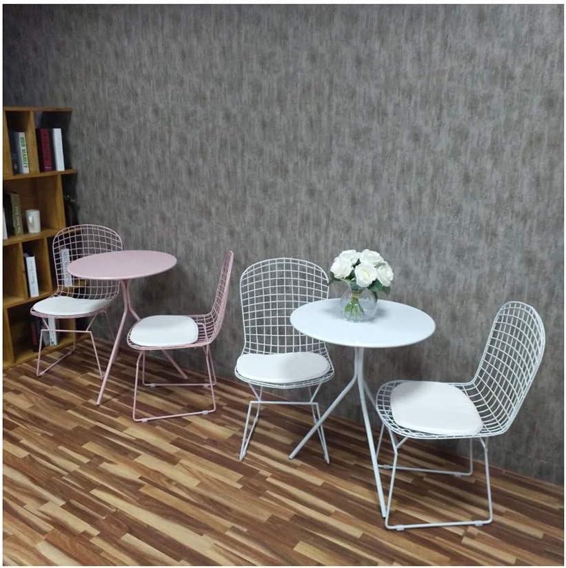 Fabrieksprijs Hedendaagse Coffee Table Metal Ronde Koffietafel Simple Coffee Table Creative Nachtkastje 4.15 (Color : White) Pink tZFglgh