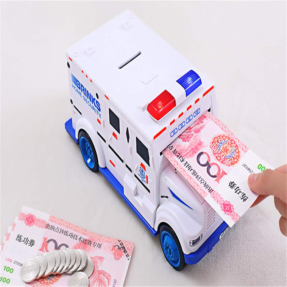 Piggy Bank Creative Smart Cash Truck Car Boy Anti-Fall Fun Children Piggy Bank by SUHXS