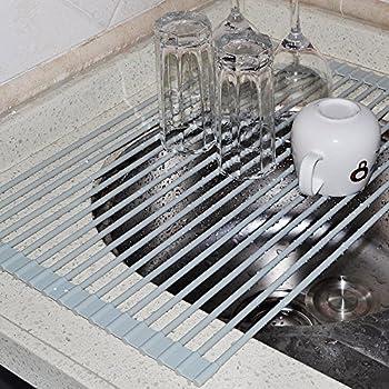 Amazon Com Lifeqvc Over The Sink Dish Drying Rack