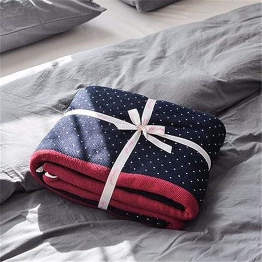 Manta Algodón Premium Lanzamiento Cama Ligera Transpirable Con Un Toque Fresco Perfecto Para El Verano,Azul,150 * 200cm: Amazon.es: Hogar