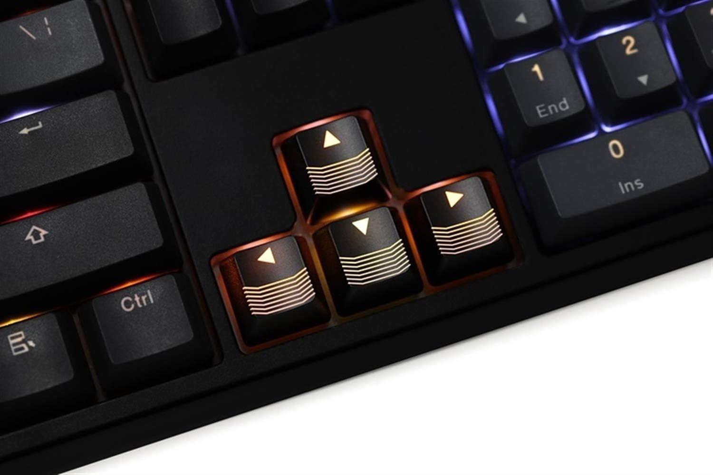L-SHISM Belle Nouveauté Briller KeyCaps ABS Through Black Key Clavier mécanique de Jeu Couleur Rouge WASD R4 R1 Shortkey Flèche Durable (Color : CF R3 Black) CF R3 Black
