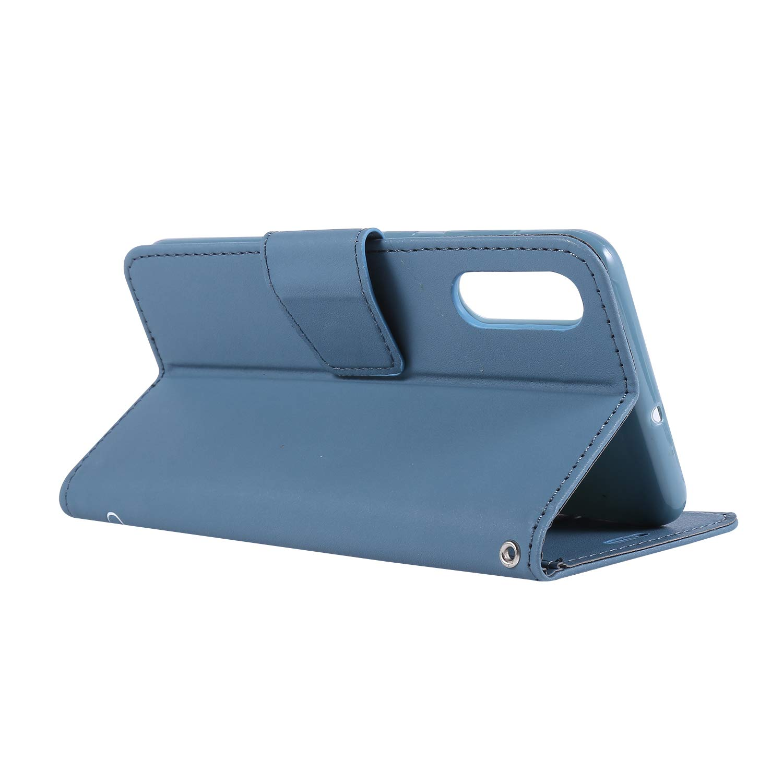 Dclbo H/ülle f/ür Samsung Galaxy A50,Handytasche Leder Handyh/ülle Flip Case Schutzh/ülle Lederh/ülle Brieftasche Magnet Kartenf/ächer Schale Cover Ledertasche f/ür Samsung Galaxy A50-Blau