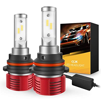 CCJK 9007/HB5 LED Headlight Bulbs - 100W 12000LM 6500K Xenon White - High/Low Beam,Fog Light Bulb Conversion Kit - CanBus Ready,IP67,CSP Chips,360 Degree: Automotive