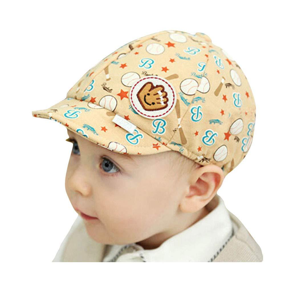 37d08147788 Amazon.com  ❤ Mealeaf ❤ Toddler Hat Baby Boys Girls Infant Newborn Sun  Protection Cotton Scarf Wrap Kids Baseball Cap Beanie (Beige)  Clothing
