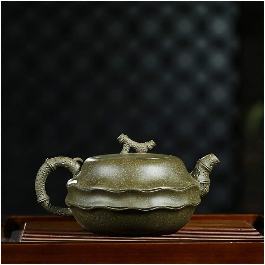 XueQing Pan 緑の粘土のティーポットクリエイティブ竹奇妙なポットカンフーティーポット (Color : Green mud)