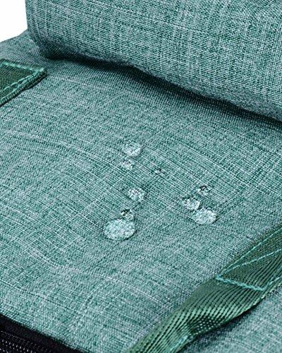 HotStyle Bestie Mochila mujer 18L - Bolsa para pañales impermeable - Negro D105B(L), Verde