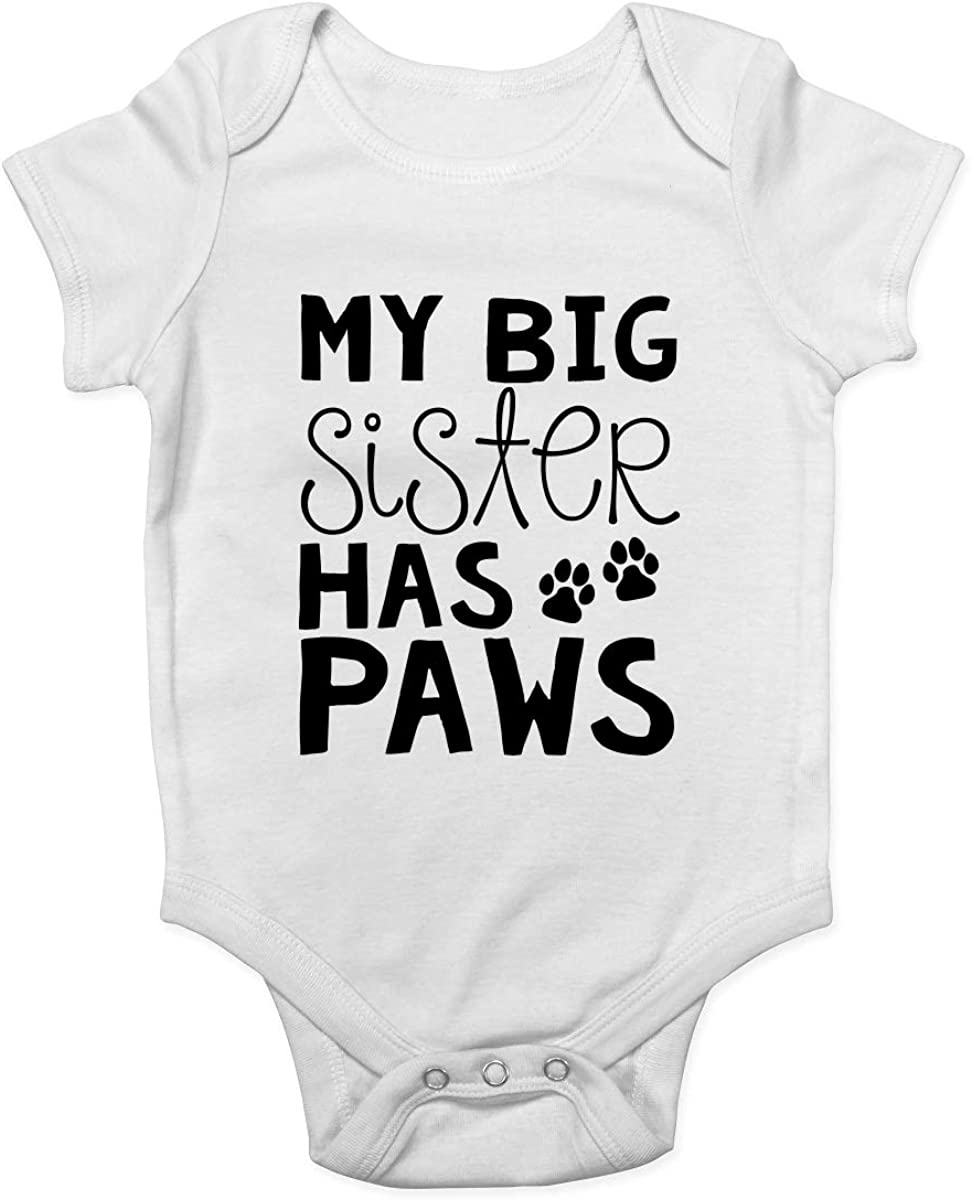 Shopagift My Big Sister has Paws Baby Grow Vest Bodysuit