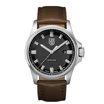 Luminox Dress Field XL.1831 Reloj de pulsera Cuarzo Hombre correa de Cuero Marrón: Amazon.es: Relojes