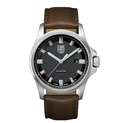 hugo watches brown leather strap s men light watch boss pilot