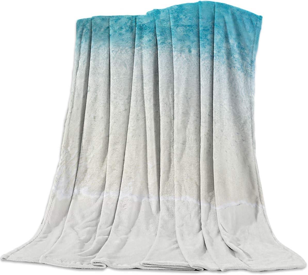 "T&H Home Flannel Fleece Bedding Blanket - 40""x50"" Hawaii Summer Holiday Ocean Island Sand Beach Anime Weighted Camp Throw Blanket for Baby Kids Boy Girls Men Women"
