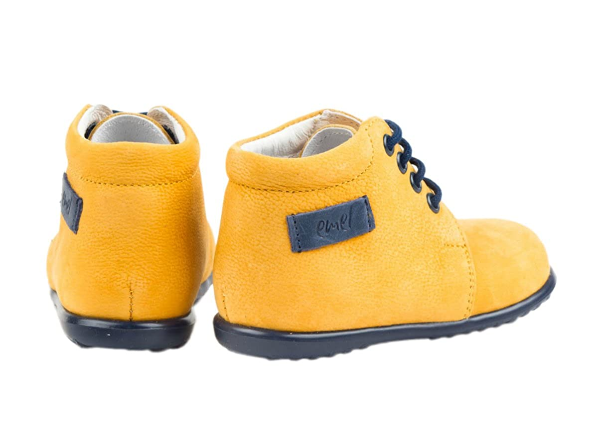 c1340daf8 Emel Handcrafted Leather Childrens First Steps Shoes Handmade in The EU - Yellow  Leather Lace Up Casual Shoes Size 23: Amazon.co.uk: Shoes & Bags