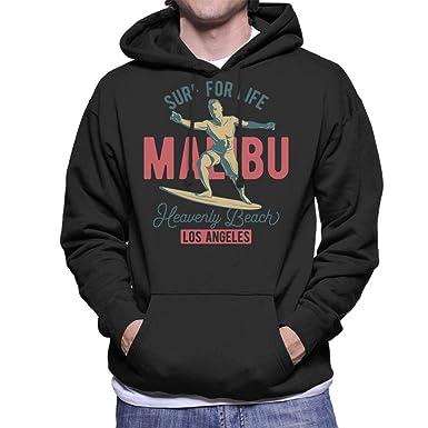 Coto7 Malibu Surf For Life LA Mens Hooded Sweatshirt: Amazon.es: Ropa y accesorios