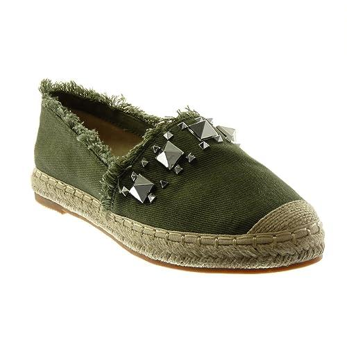expédition de baisse premier taux acheter mieux Angkorly - Chaussure Mode Espadrille Sandale Slip-on Femme ...
