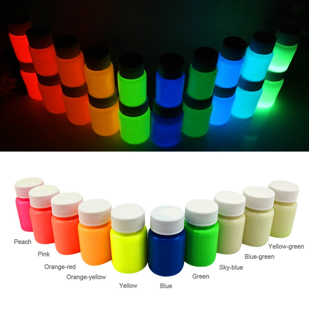 LianLe 10 x UV Body Paint Black Light Make-Up Bodypainting Blacklight Bodypaint Face Paints