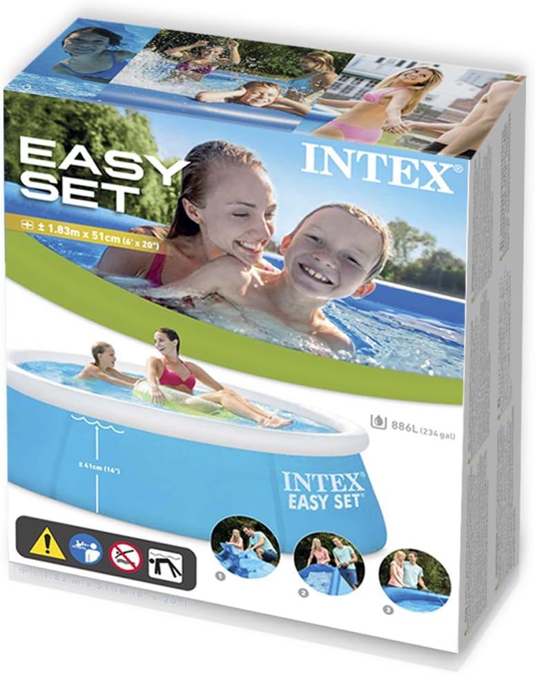 Intex 28101NP Easy Set - Piscina hinchable, 183 x 51 cm, 880 ...