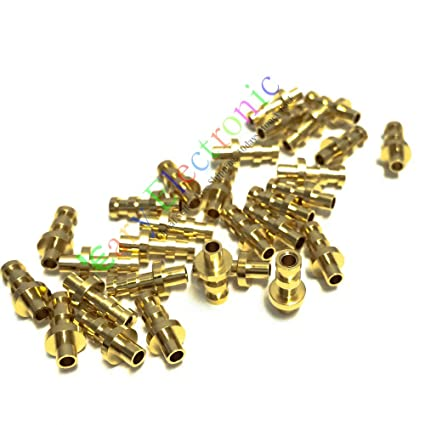 Amazon com: 50pc copper plated gold Turret Lug for 2MM Fiberglass