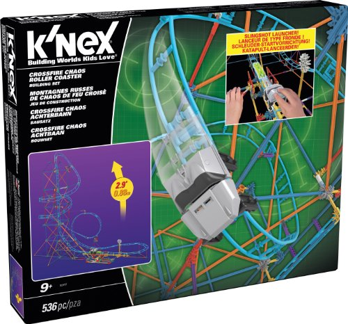 K'NEX Crossfire Chaos Roller Coaster Building Set Amazon Exclusive]()