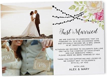 "Amazon.com: ""Exchanged Vows!"" Elopement Announcement, Wedding"