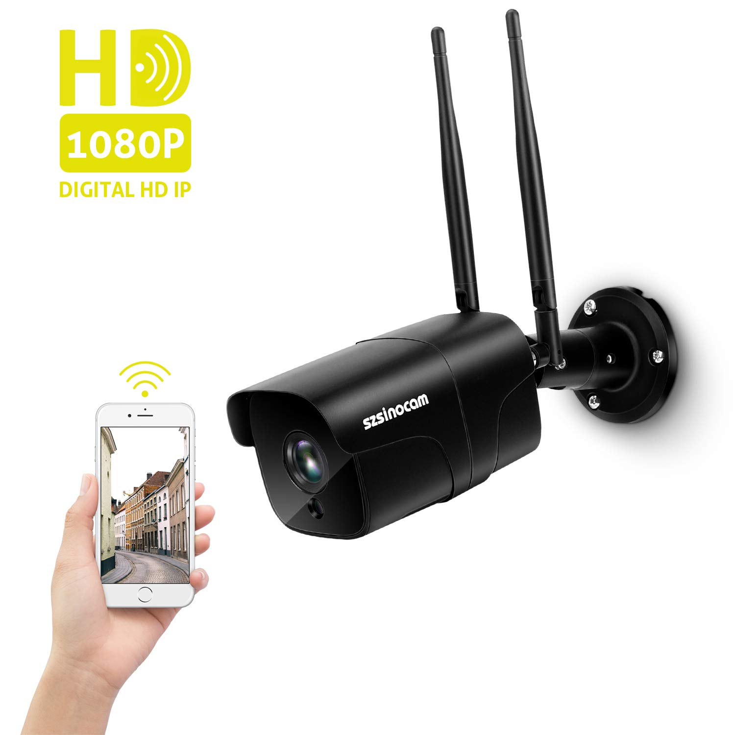 HeimVision HM211 Outdoor Security Camera Wireless Motion Detection Floodlight Siren Alarm Two-Way Audio Waterproof 1080P WiFi Surveillance Camera with Night Vision Cloud Service//Microsd Support
