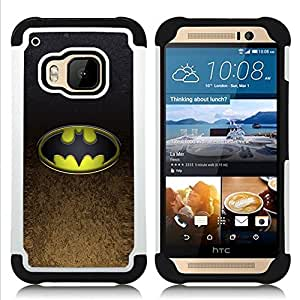 - Bat Superhero - - Doble capa caja de la armadura Defender FOR HTC ONE M9 RetroCandy