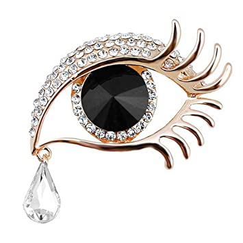 ab59c747c Factory Direct Sale Blue Eye Brooch Pin With Crystal Rhinestones In Gold Or  Silver Color Plated