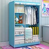 Generic Large Fully-enclosed Children Cartoon Dustproof Wardrobe Portable Reinforced Bold Closet Double Armoire New
