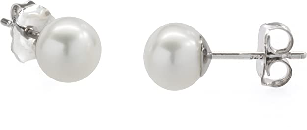 Stud on pendant sold by pair semi round or button shape 12-13 mm Extra Luster Large Edison Pearl Pairs for Stud Earring