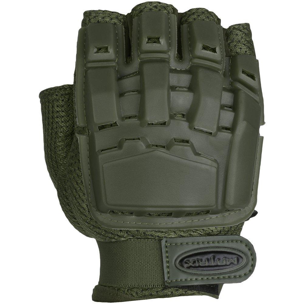 Evike Matrix Half Finger Tactical Gloves Black//ODG//Tan XS to XXL
