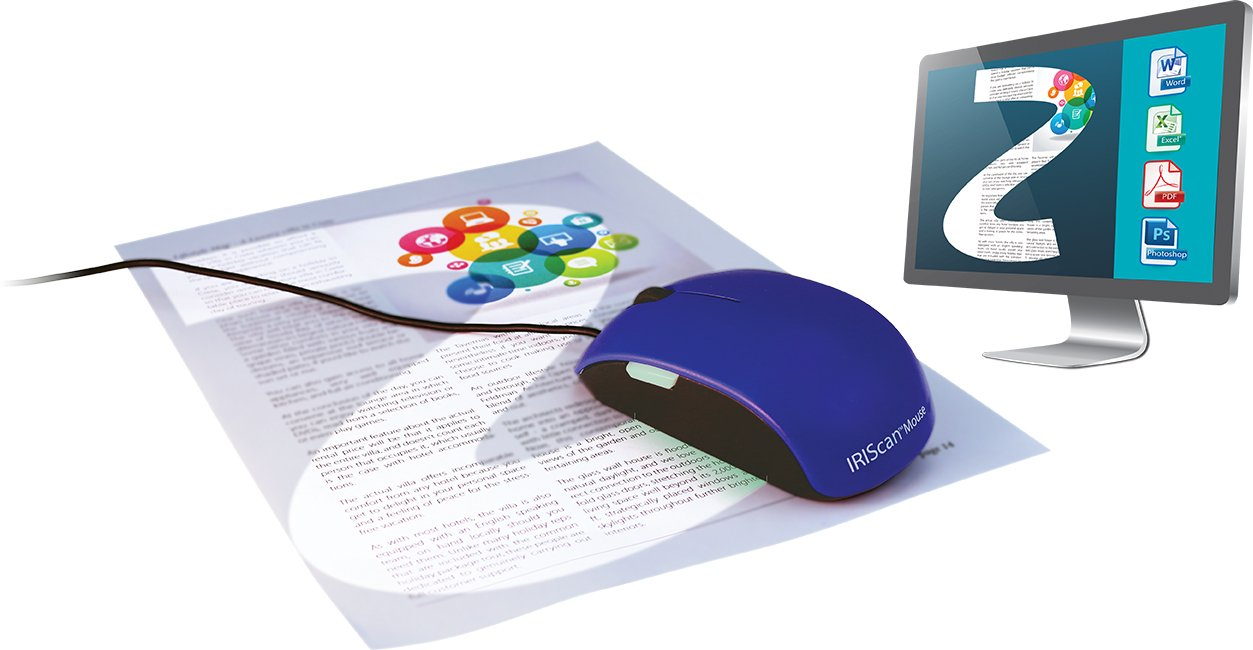 IRISCan Mouse 2 USB Portable Mobile Document Image Handheld Mouse and Color Scanner USB