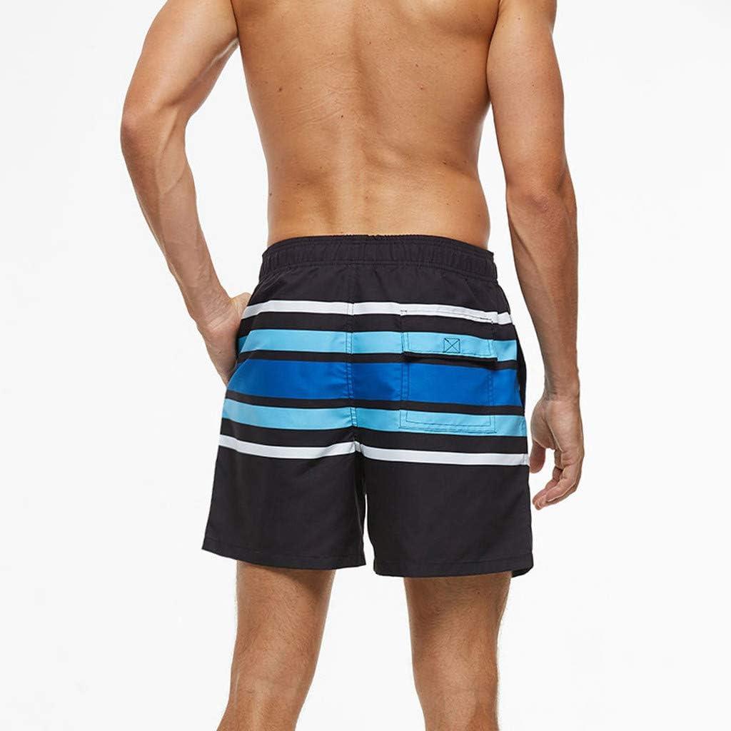MIRRAY Men/'s Shorts Swimwear Casual Beach Wear Pattern Print Trunks Drawstring Loose Swimming Pants