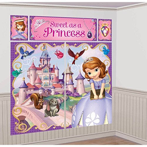Disney Princess Sofia the First Scene Setter Wall Decorations Kit - Kids Birthday and Party Supplies -