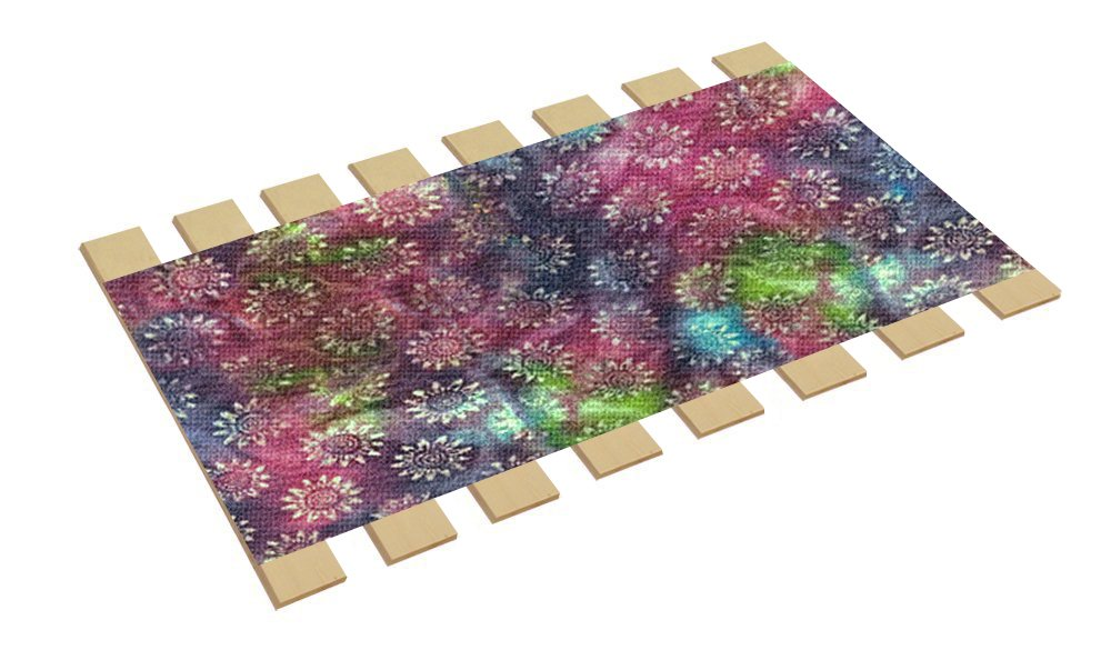 The Furniture Cove Twin Size Bed Slats Boards Wood Foundation Tie Dye Burlap Fabric-Help Support Your Box Spring Mattress-Made in the U.S.A.! (41'' Wide) by The Furniture Cove