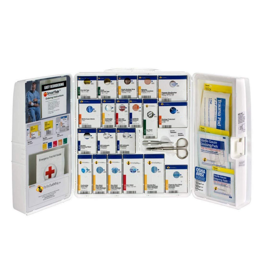 50 Person Large Plastic SmartCompliance Food Service Cabinet OSHA Emergency Kit Trauma Kit First Aid Kits for Restaurants