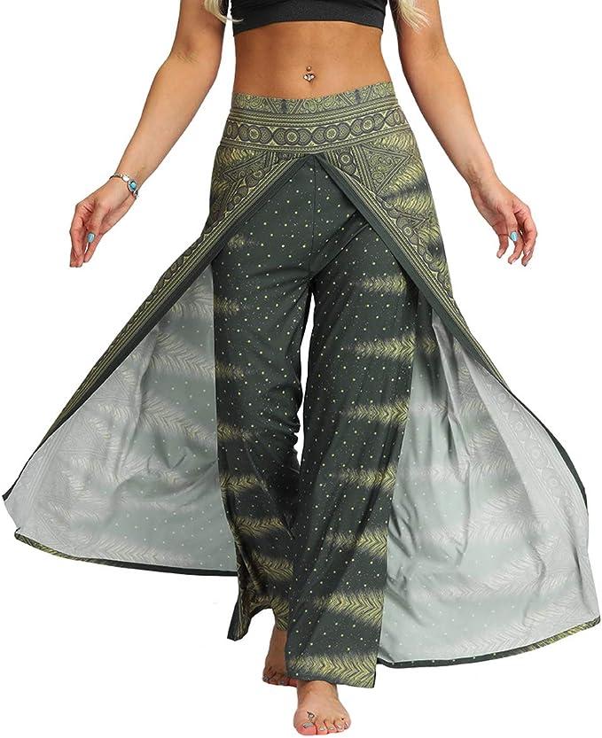 Amazon.com: Fancy Uyee Pantalones Harem para mujer con ...