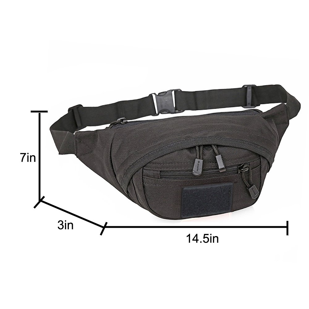 f61a9e28bb3 Amazon.com : X-Freedom Military Waist Pack Tactical Waist Bag With  Anti-theft Pocket Unisex Fanny Pack Chest Shoulder Bag Phone Pouch Bag Gear Running  Belt ...