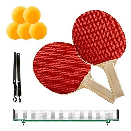 Juego de tenis de mesa PING PONG raqueta pelotas de 2 jugadores ...