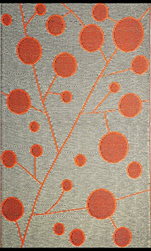 b.b.begonia Contemporary Reversible Design Cotton Ball Outdoor Area Rug, 6' x 9', Brown/Orange by b.b.begonia (Image #5)