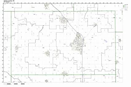 Amazon.com: Harvey County, Kansas KS ZIP Code Map Not ...