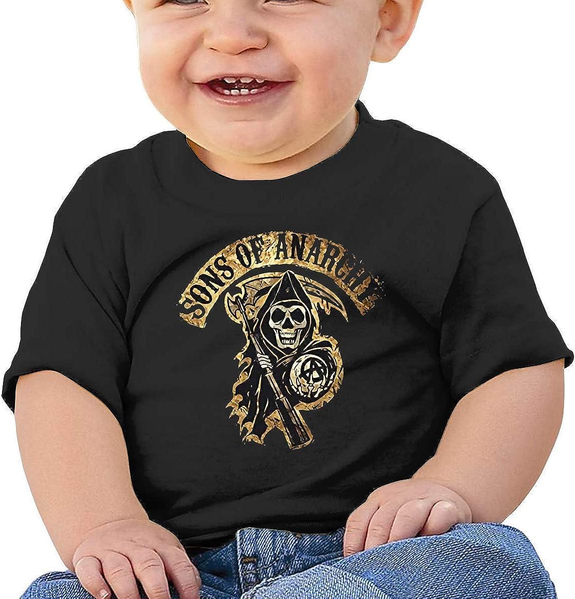 Sons of Anarchy T-Shirt b/éb/é /à Manches Courtes Confortable et Respirant respectueux de la Peau Noir