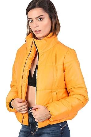 fb194702719 PILOT® Women's Cropped Puffer Jacket in Mustard Yellow: Amazon.co.uk:  Clothing