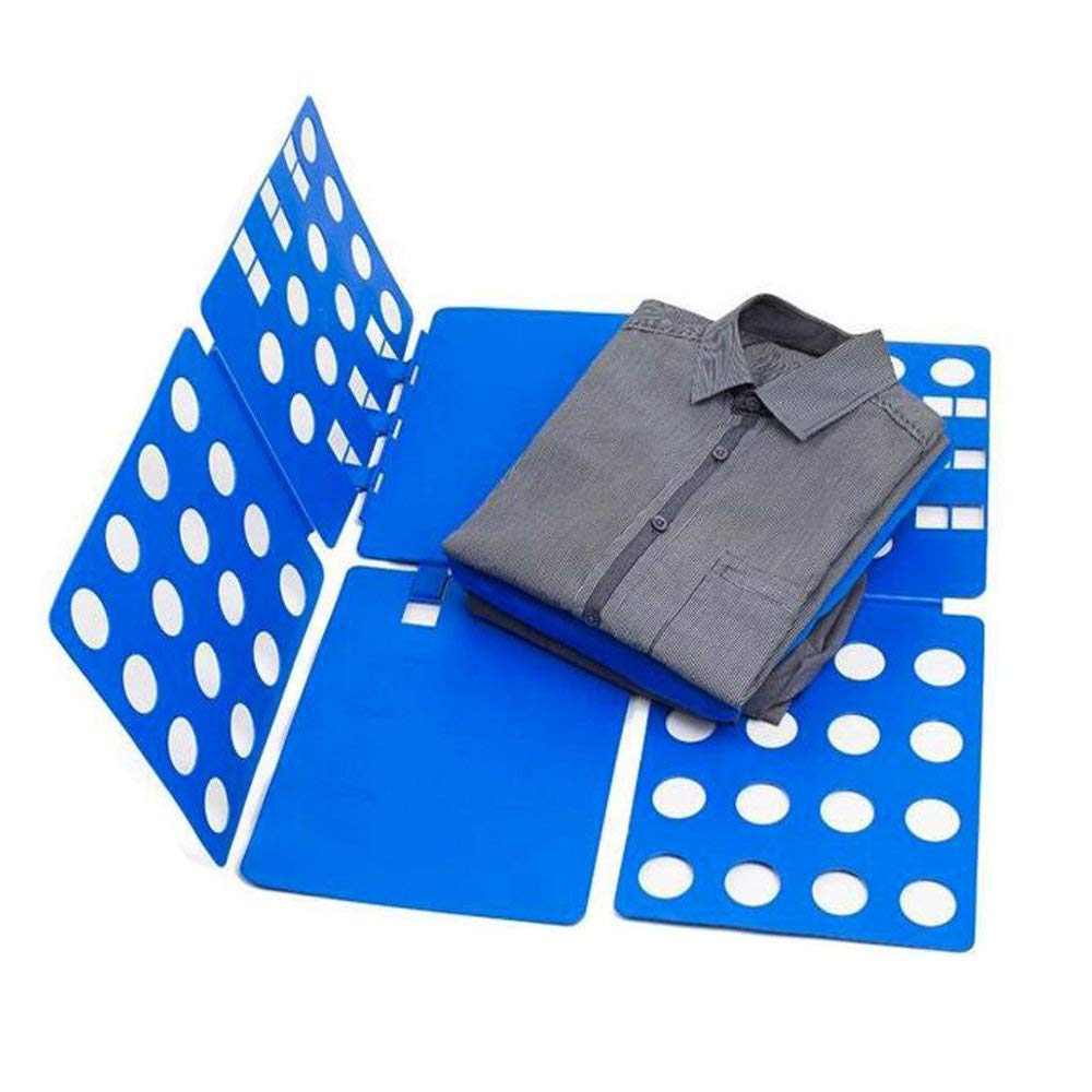 Fencia Flip Fold Shirt Folder/Laundry Folder Board Organizer/Clothes Folder,Convenient Adjustable Lazy Folding Board Clothes T-Shirts Flip Fold/Fast Folding Board, Blue