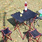 Forgun Outdoor Folding Ultra-light Aluminum Alloy Portable Camping Picnic Table