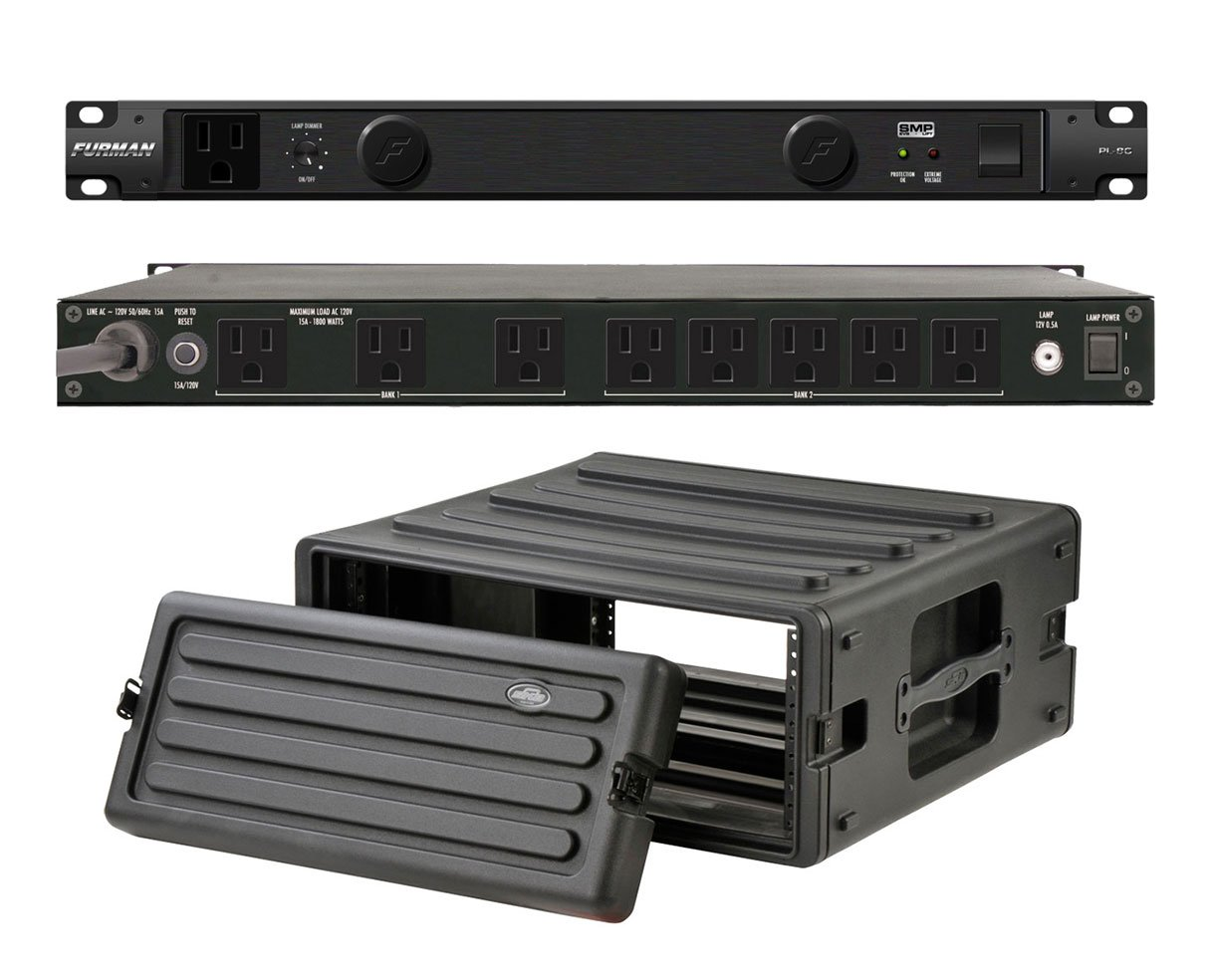 Furman PL-8 C Rack Mount Power Conditioner + SKB 1SKB-R4U Roto Molded 4U Rack