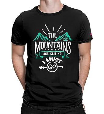 82982e8b PrintOctopus Graphic Printed T-Shirt for Men & Women | Travel Tshirt |  Mountains are Calling T-Shirt | Half Sleeve T-Shirt | Round Neck T Shirt |  100% ...